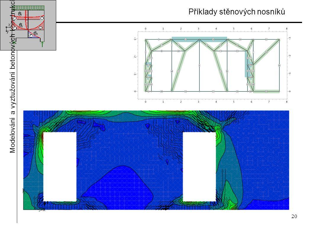 20 Příklady stěnových nosníků Modelování a vyztužování betonových konstrukcí