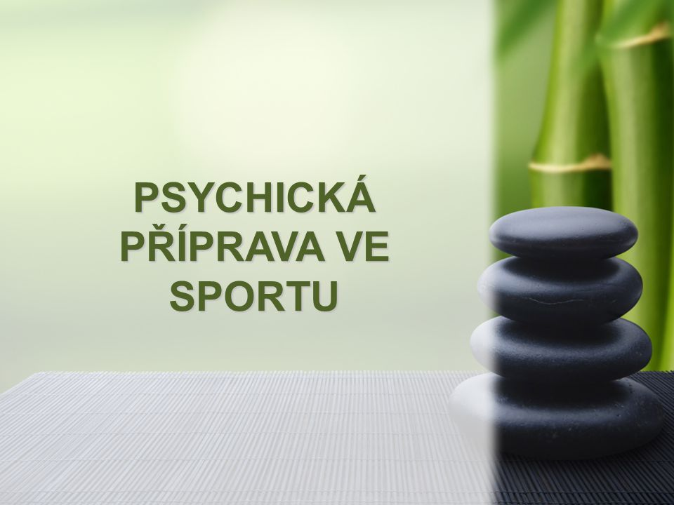 PSYCHICKÁ PŘÍPRAVA VE SPORTU