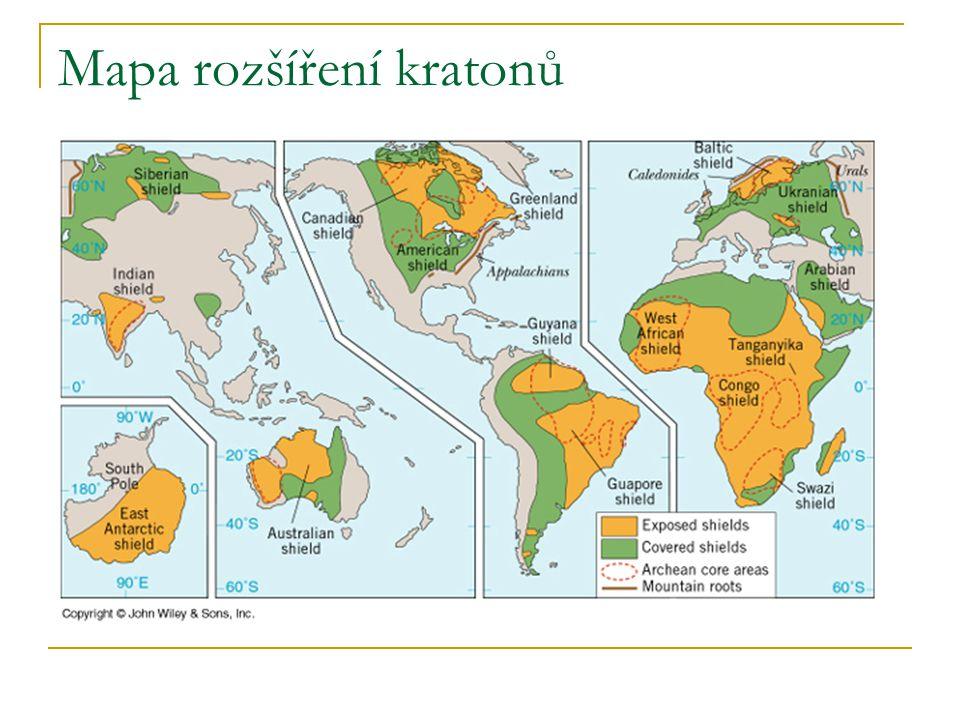 Mapa rozšíření kratonů