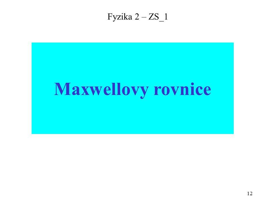 12 Fyzika 2 – ZS_1 Maxwellovy rovnice