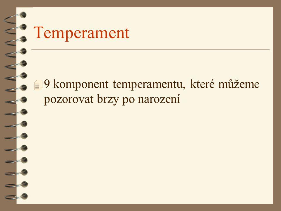 Temperament 4 9 komponent temperamentu, které můžeme pozorovat brzy po narození
