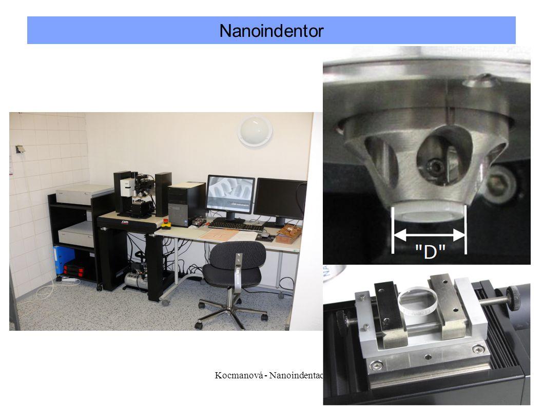 Kocmanová - Nanoindentace10 Nanoindentor