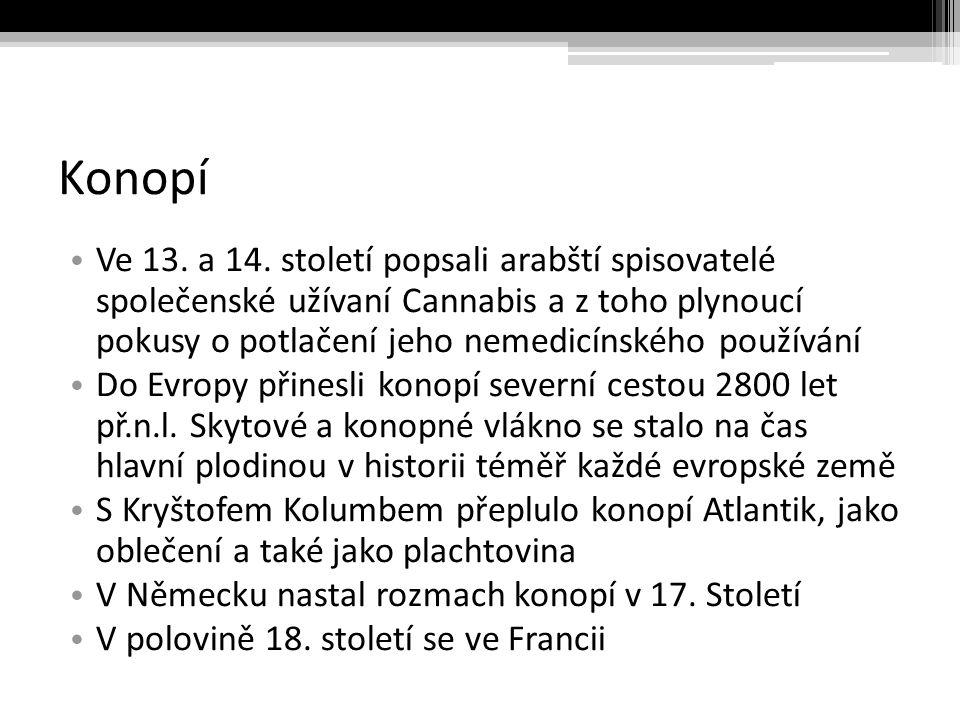 Konopí Ve 13.a 14.