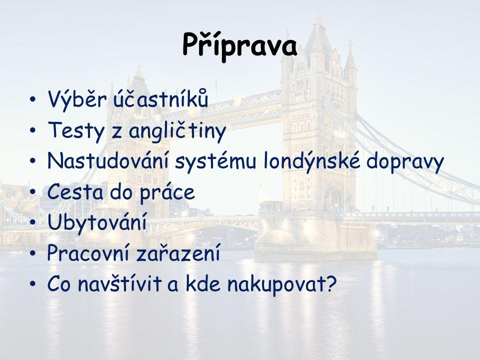 Příprava Příprava probíhala před samotnou stáží ve škole, v Orlové nebo v Petrovicích.