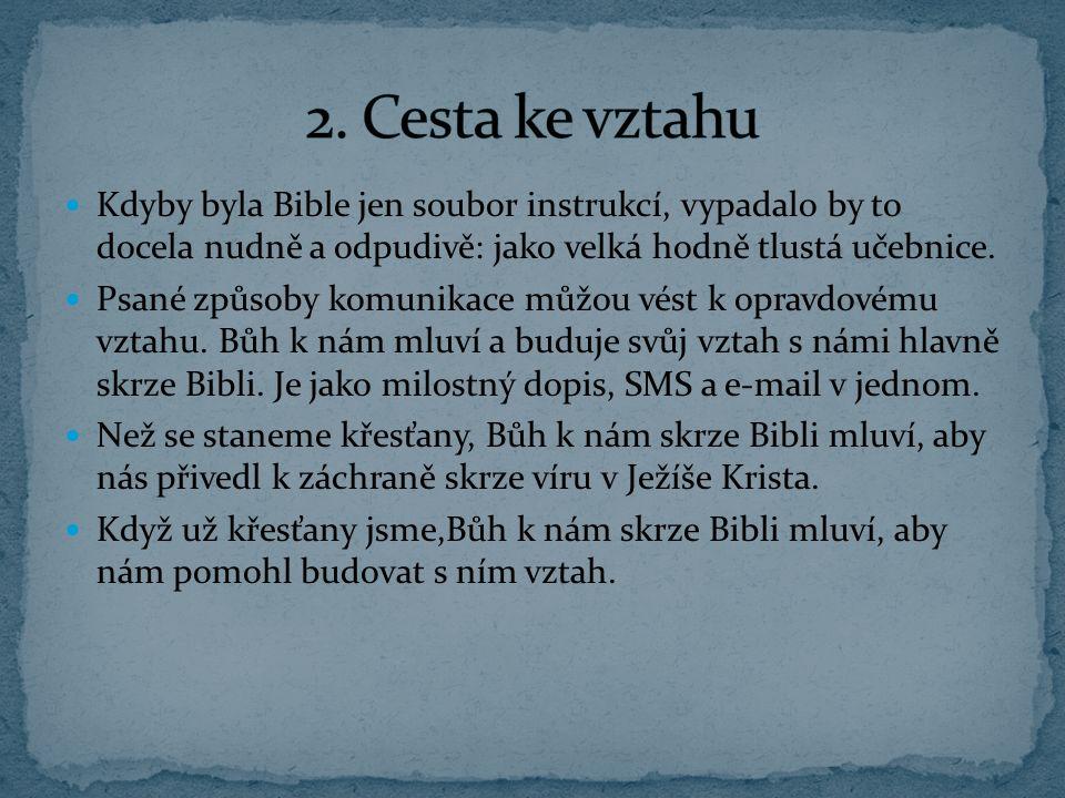 Bibli můžeme přirovnat k návodu k autu.