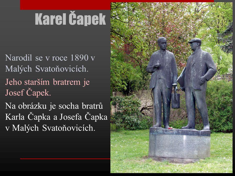 Karel Čapek Významný český spisovatel, novinář a fotograf.