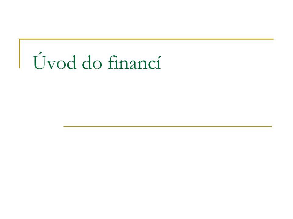 Úvod do financí
