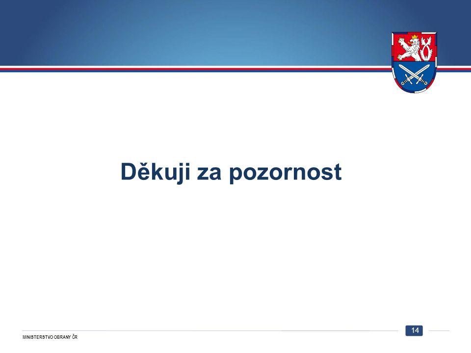 MINISTERSTVO OBRANY ČR 14 Děkuji za pozornost 14