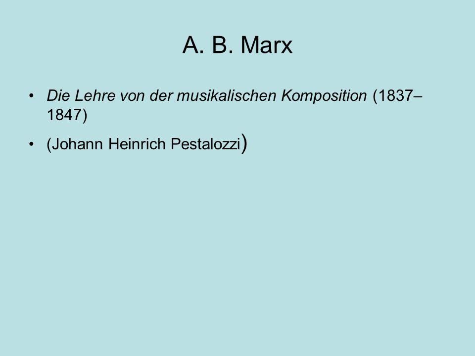 A. B. Marx Die Lehre von der musikalischen Komposition (1837– 1847) (Johann Heinrich Pestalozzi )