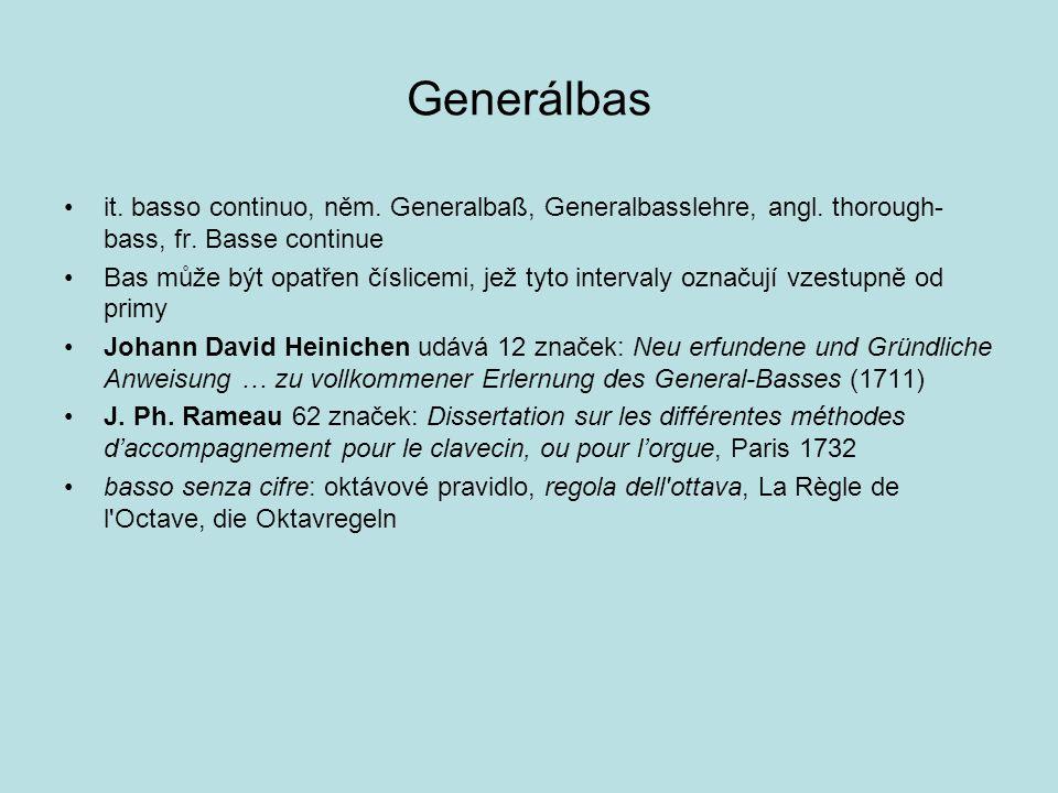 Generálbas it. basso continuo, něm. Generalbaß, Generalbasslehre, angl. thorough- bass, fr. Basse continue Bas může být opatřen číslicemi, jež tyto in