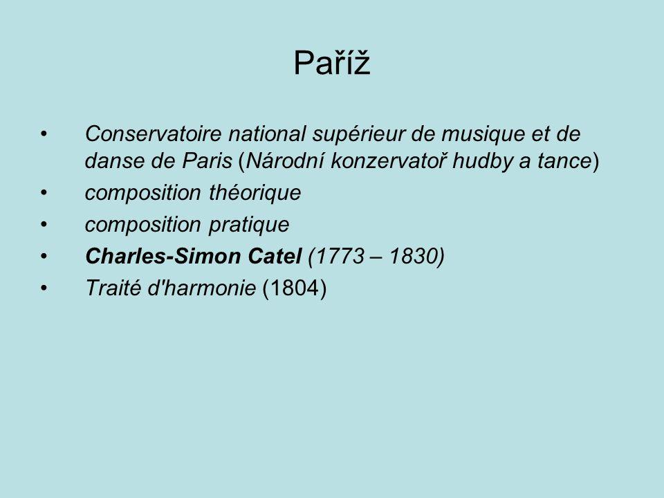 Paříž Conservatoire national supérieur de musique et de danse de Paris (Národní konzervatoř hudby a tance) composition théorique composition pratique