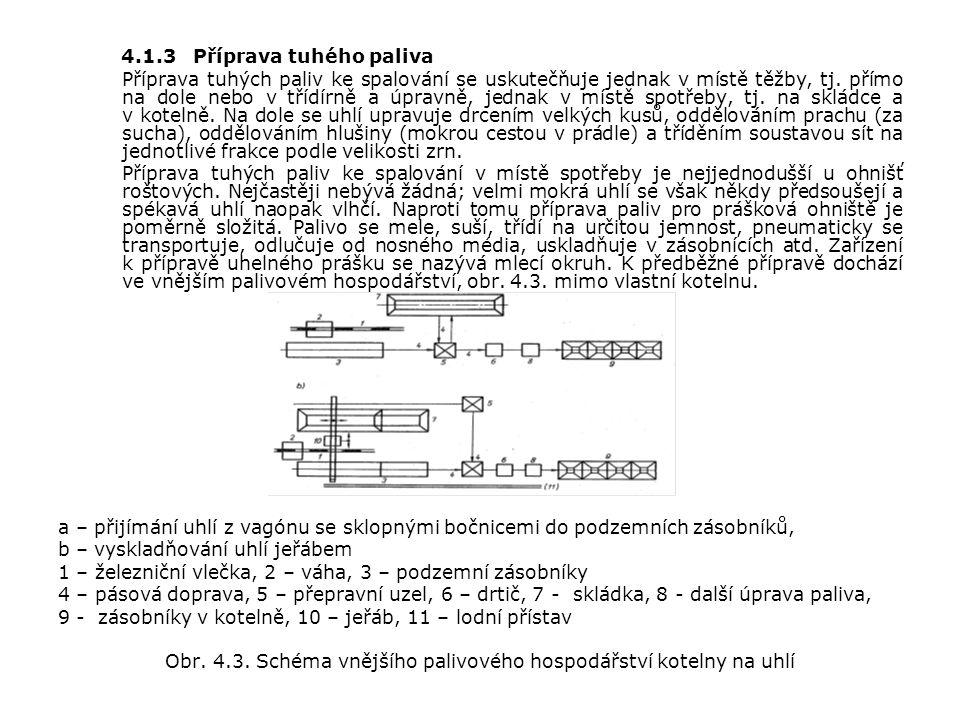 4.1.3 Příprava tuhého paliva Příprava tuhých paliv ke spalování se uskutečňuje jednak v místě těžby, tj.
