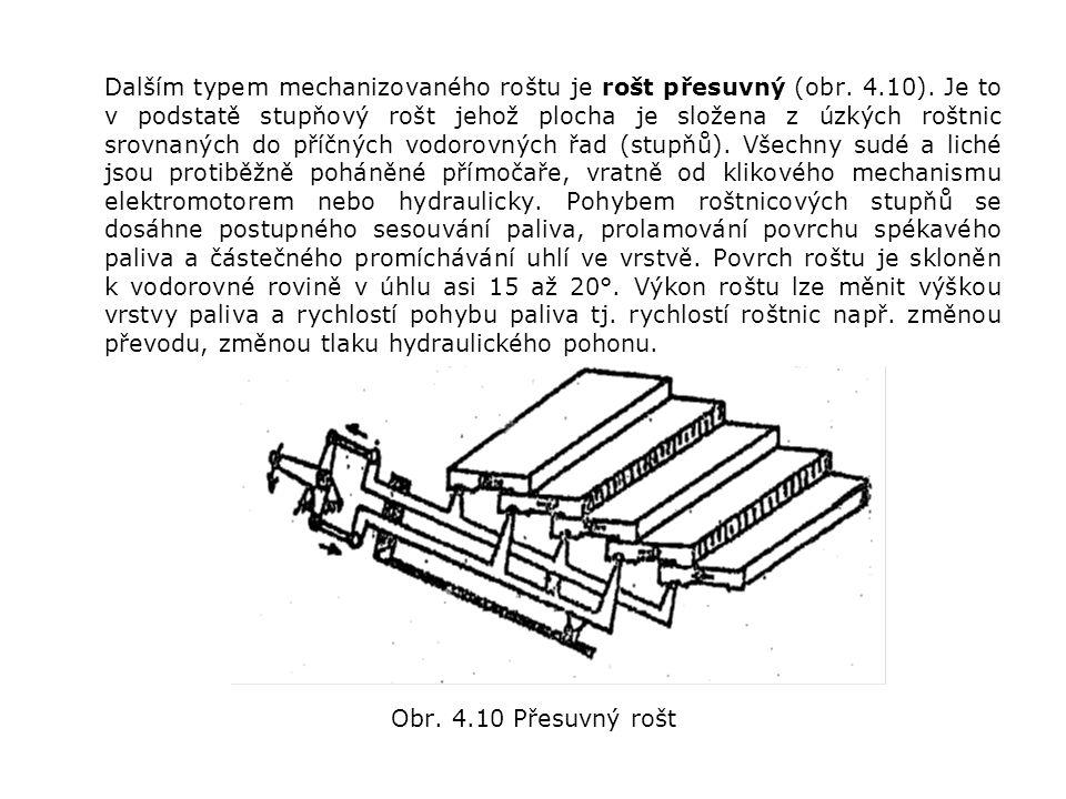 Dalším typem mechanizovaného roštu je rošt přesuvný (obr.