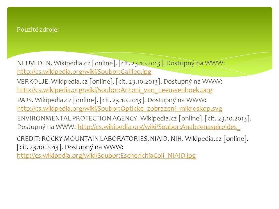 NEUVEDEN. Wikipedia.cz [online]. [cit. 23.10.2013]. Dostupný na WWW: http://cs.wikipedia.org/wiki/Soubor:Galileo.jpg http://cs.wikipedia.org/wiki/Soub