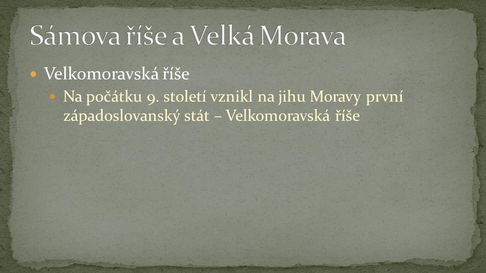 Velkomoravská říše Na počátku 9.