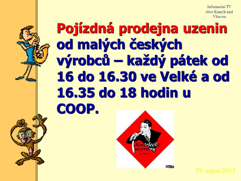 29. srpna 2015 Informační TV obce Kamýk nad Vltavou Provedu montáž nové hydroizolace z modifikovaných SBS pásů na garážích nad hrází. Telefon: 608 438
