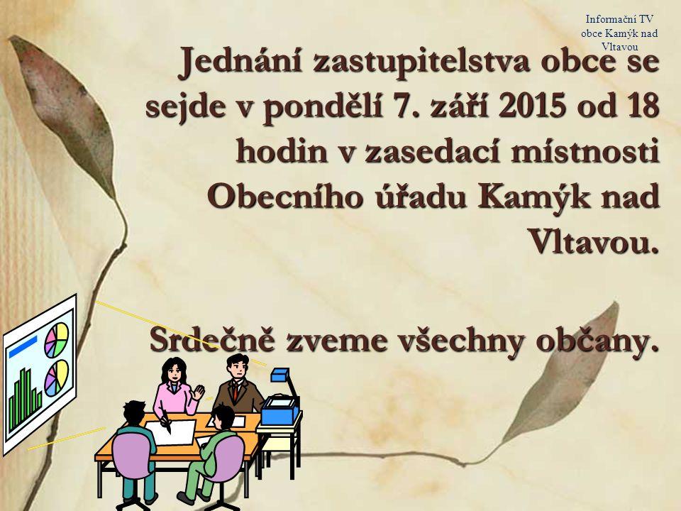 29. srpna 2015 Informační TV obce Kamýk nad Vltavou Prodám: vařič na PB, 6 skleniček s podpisy – Patera, Hlinka, keramiku, kávový servis. Telefon: 607