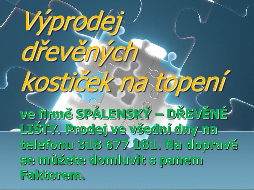 Informační TV obce Kamýk nad Vltavou Jednání zastupitelstva obce se sejde v pondělí 7.