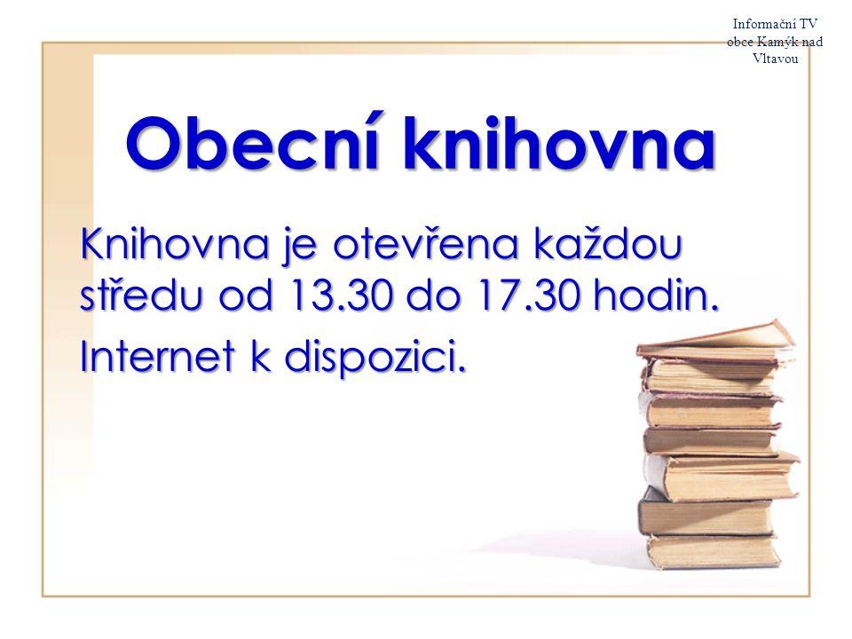 29. srpna 2015 Informační TV obce Kamýk nad Vltavou