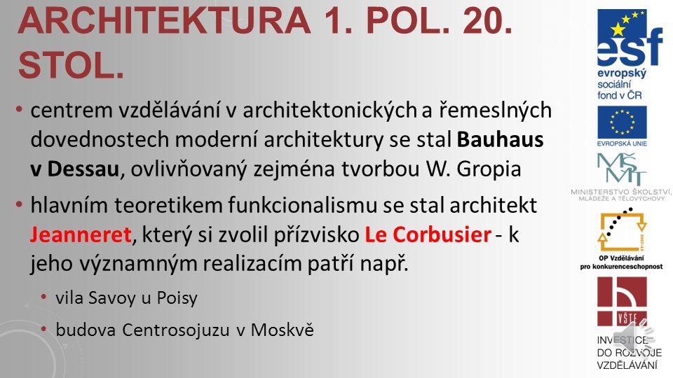 ARCHITEKTURA 1. POL. 20. STOL. v evropském prostředí patří k nejčistším projevům podobné stavební kultury technických staveb dílo Petera Behrense - AE