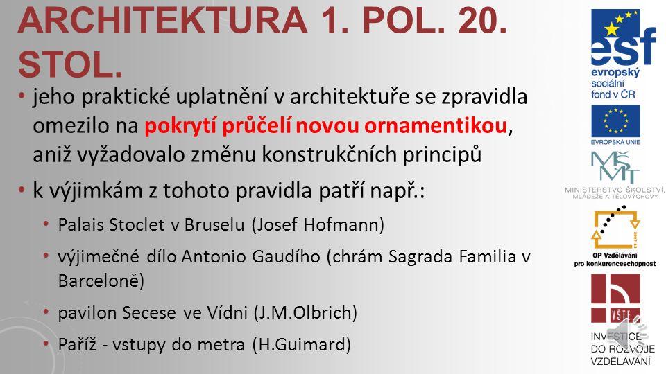 ARCHITEKTURA 1.POL. 20. STOL.