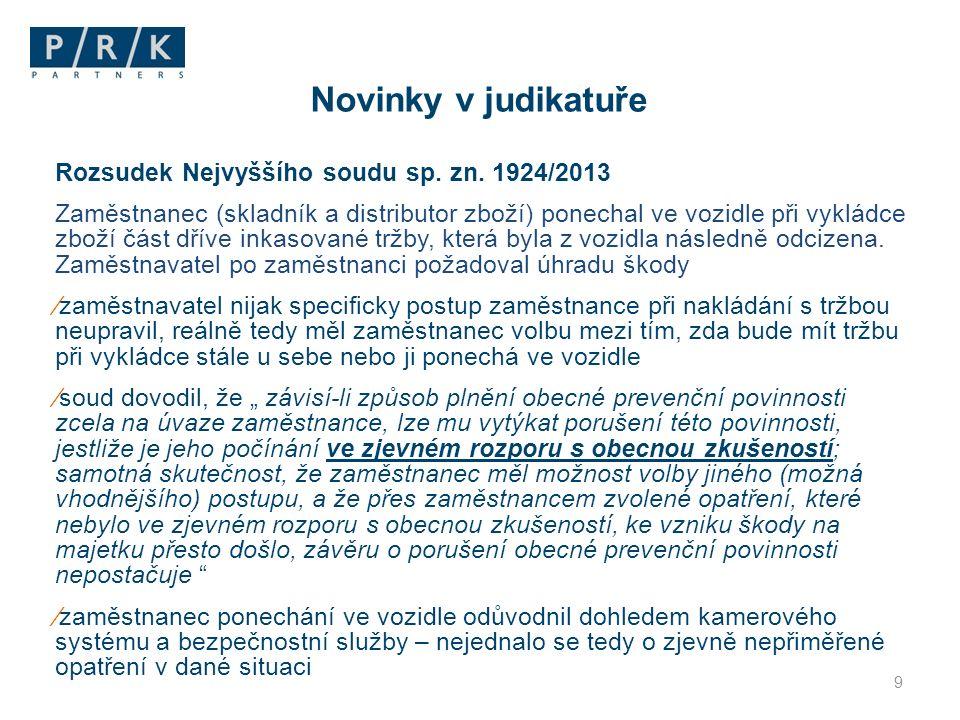 Rozsudek Nejvyššího soudu sp.zn.