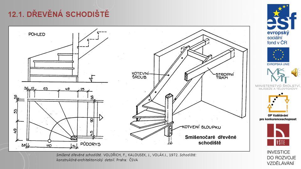 12.1.DŘEVĚNÁ SCHODIŠTĚ Smíšené dřevěné schodiště.