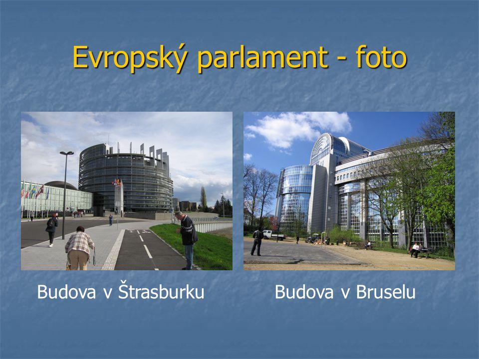 Evropský parlament - foto Budova v BruseluBudova v Štrasburku