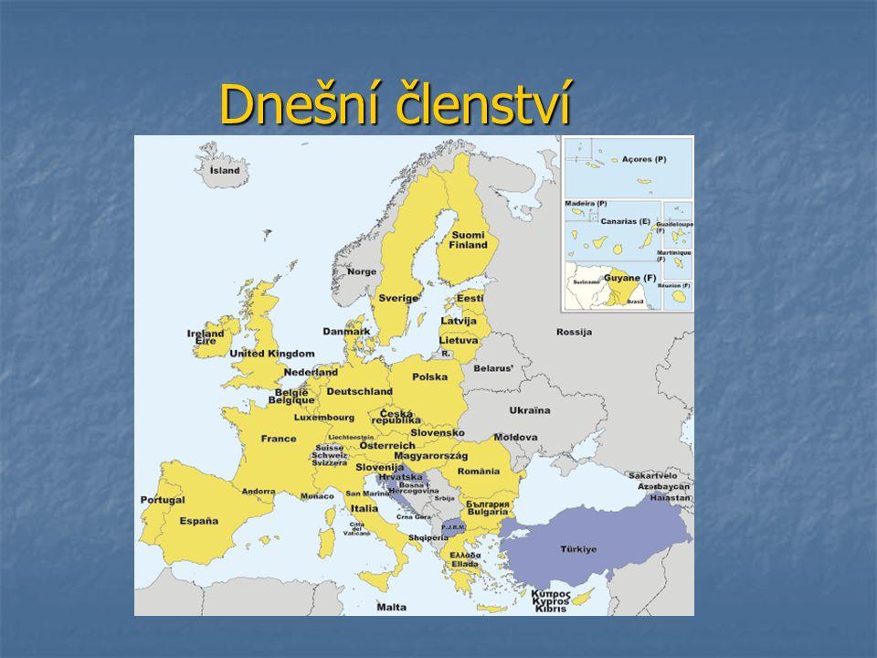 Evropská měnová unie (EMU) 15 států EU jsou členy tzv.