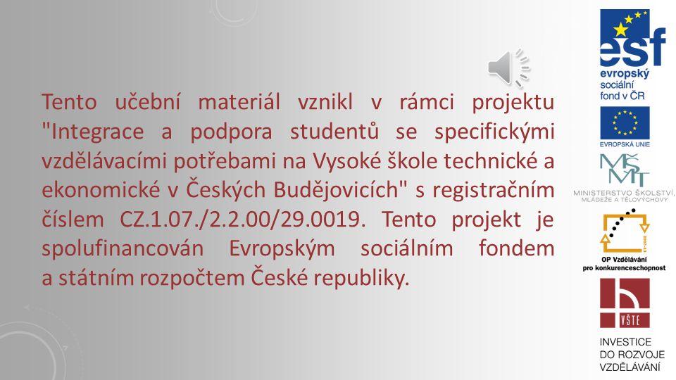 KAPITOLA 13: EVROPSKÉ BANKOVNICTVÍ, EVROPSKÁ CENTRÁLNÍ BANKA Vysoká škola technická a ekonomická v Českých Budějovicích I