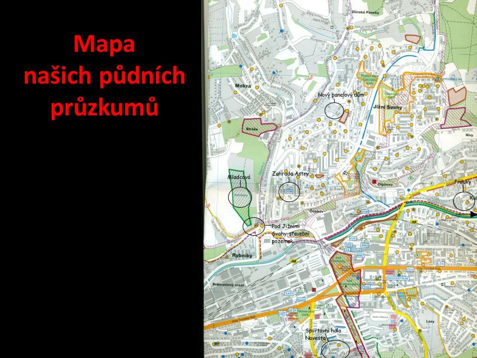 Mapa našich půdních průzkumů