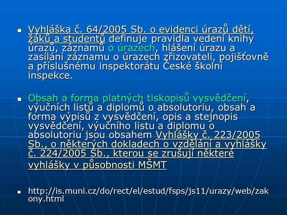 Vyhláška č.64/2005 Sb.