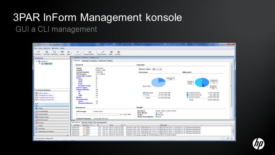 3PAR InForm Management konsole GUI a CLI management