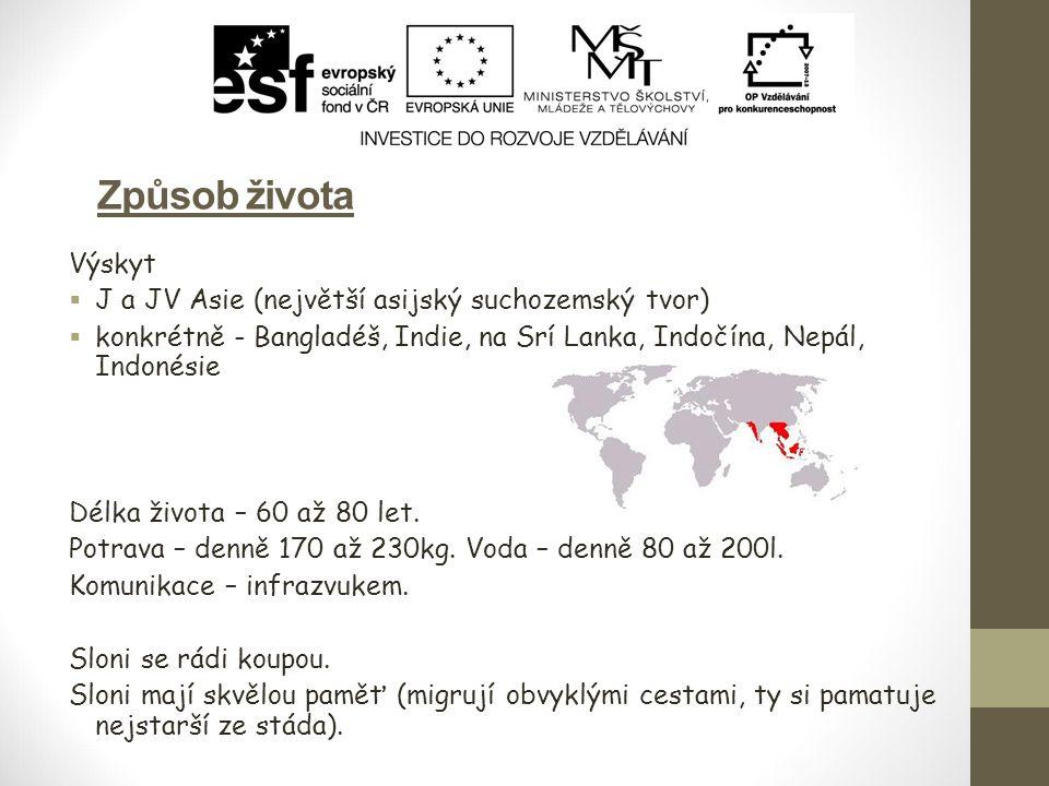 Způsob života Výskyt  J a JV Asie (největší asijský suchozemský tvor)  konkrétně - Bangladéš, Indie, na Srí Lanka, Indočína, Nepál, Indonésie Délka