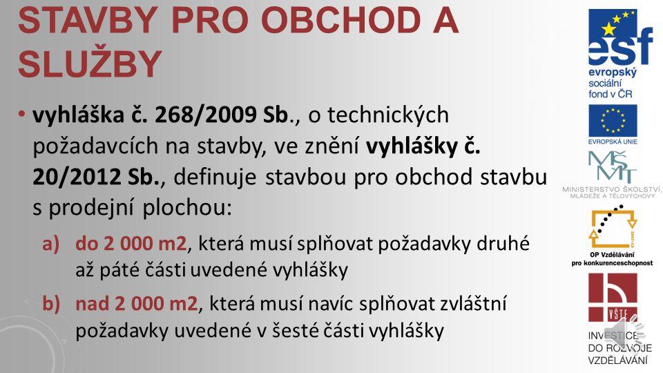 STAVBY PRO OBCHOD A SLUŽBY vyhláška č.