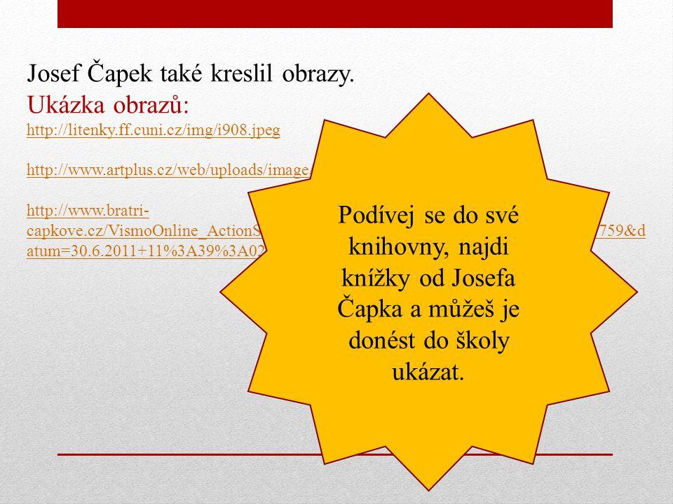 Památník bratří Čapků v Praze od Pavla Opočenského
