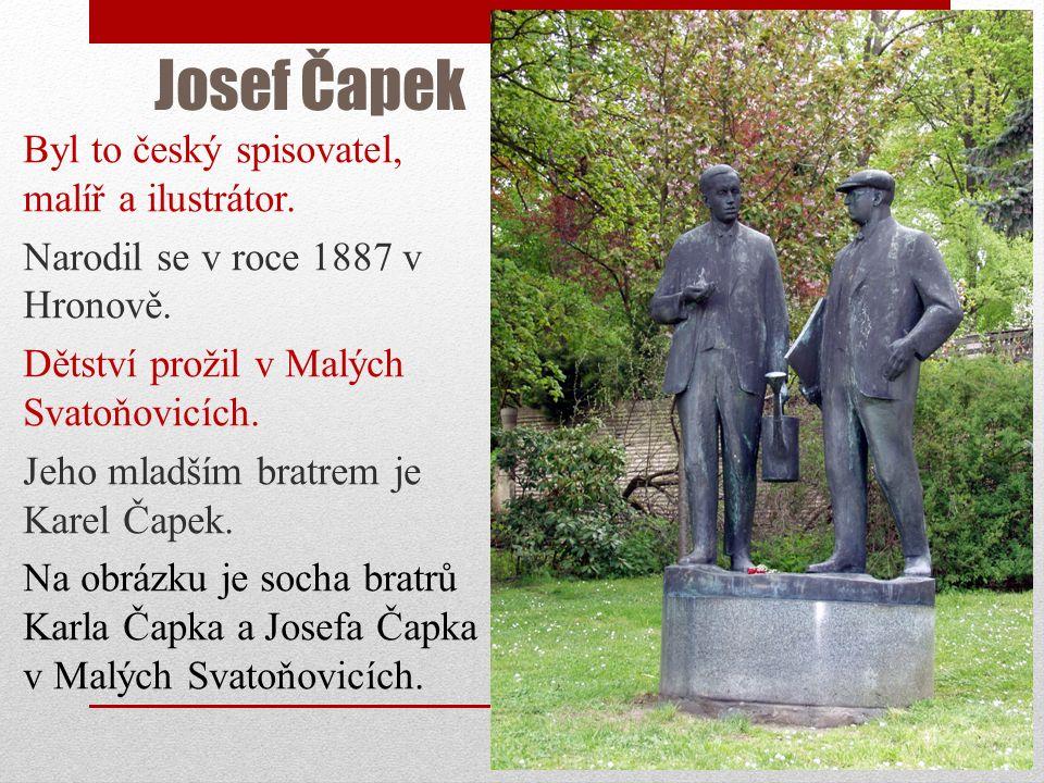 Josef Čapek Český spisovatel, malíř a ilustrátor http://www.odaha.com/sites/default/files/josef-capek.jpg