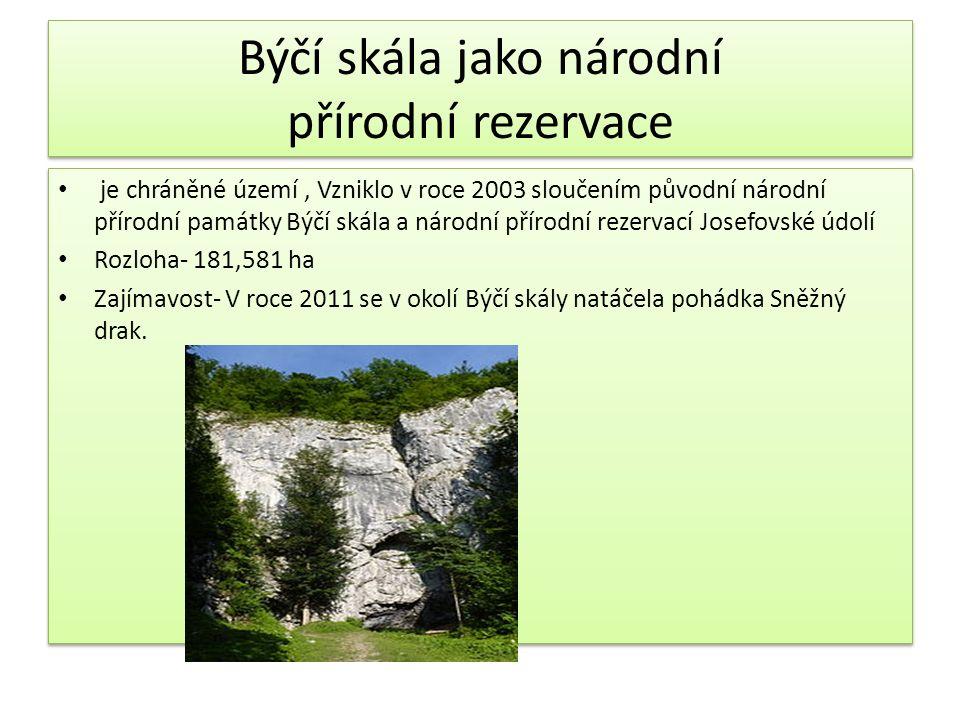 Býčí skála jako národní přírodní rezervace je chráněné území, Vzniklo v roce 2003 sloučením původní národní přírodní památky Býčí skála a národní přír