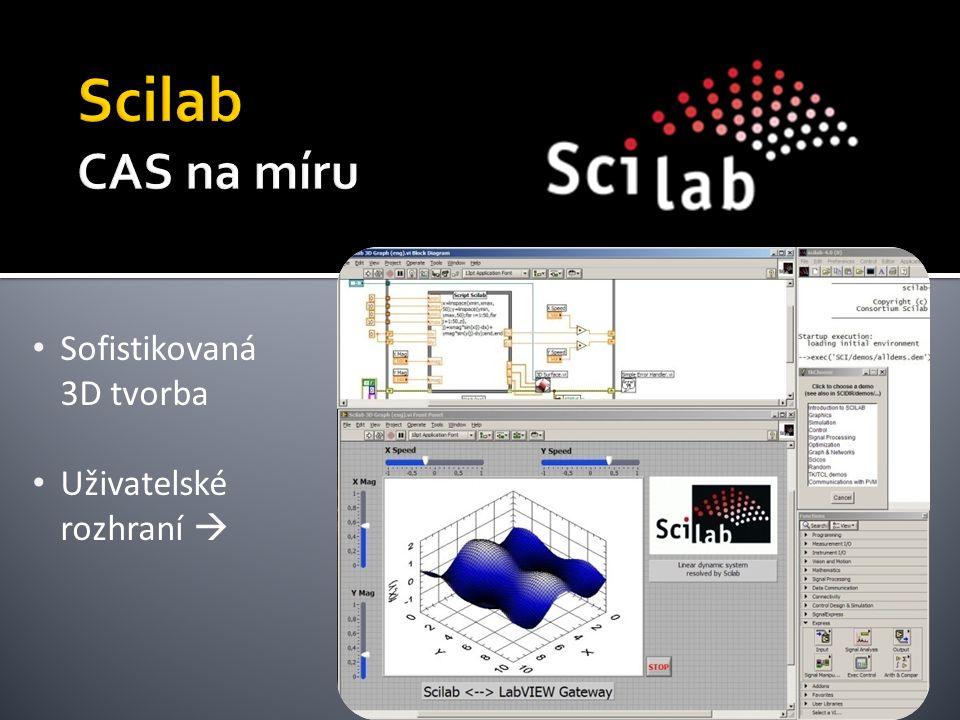 Sofistikovaná 3D tvorba Uživatelské rozhraní 