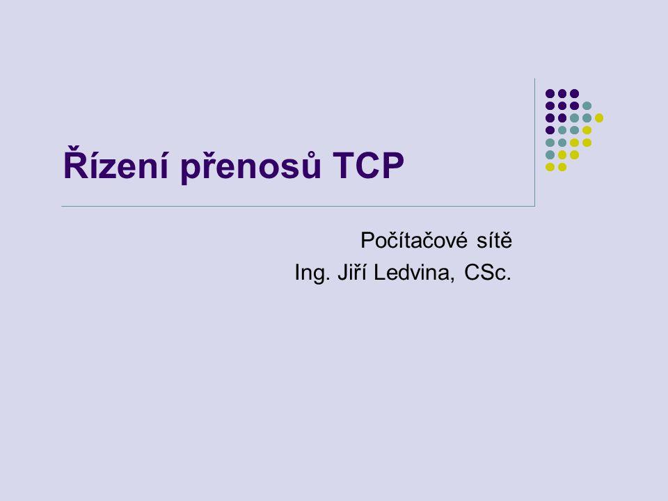 Řízení přenosů TCP Počítačové sítě Ing. Jiří Ledvina, CSc.