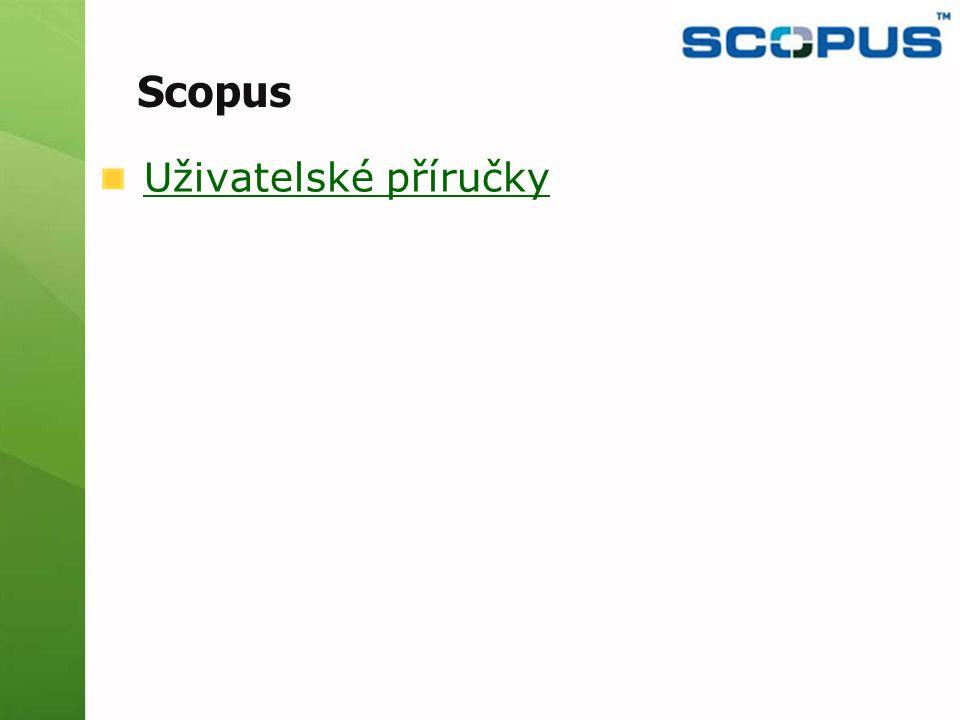 Uživatelské příručky Scopus