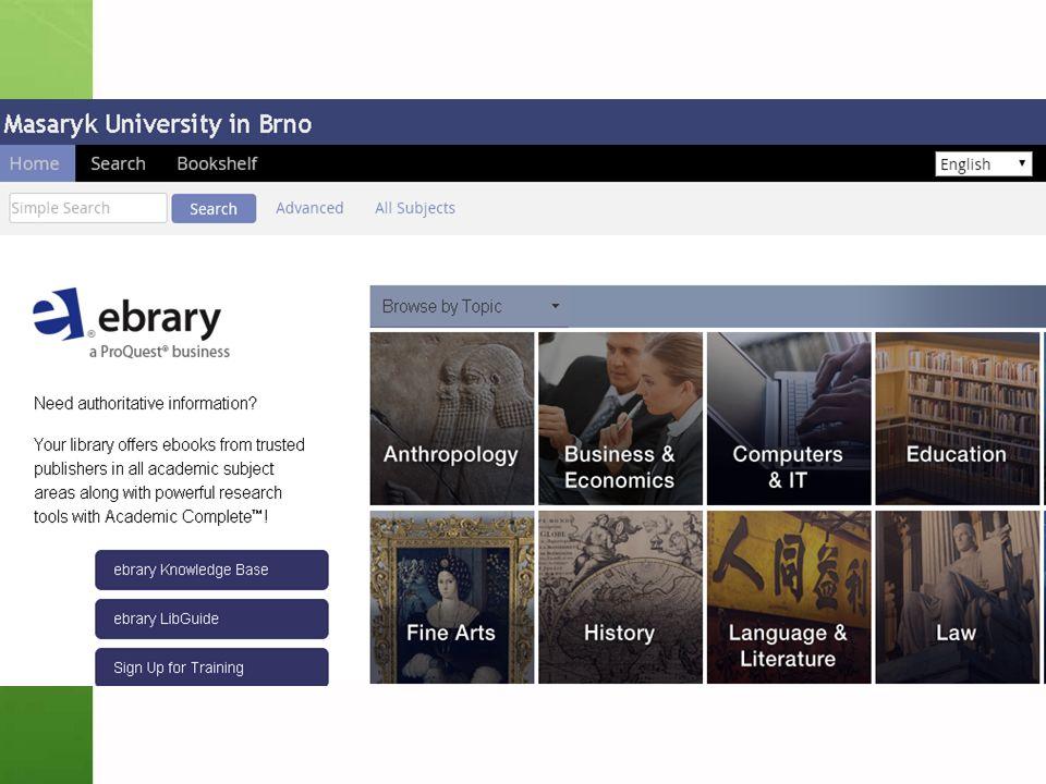 Gale Virtual Reference Library Knihy převážně encyklopedického charakteru  Cca 40 e-knih