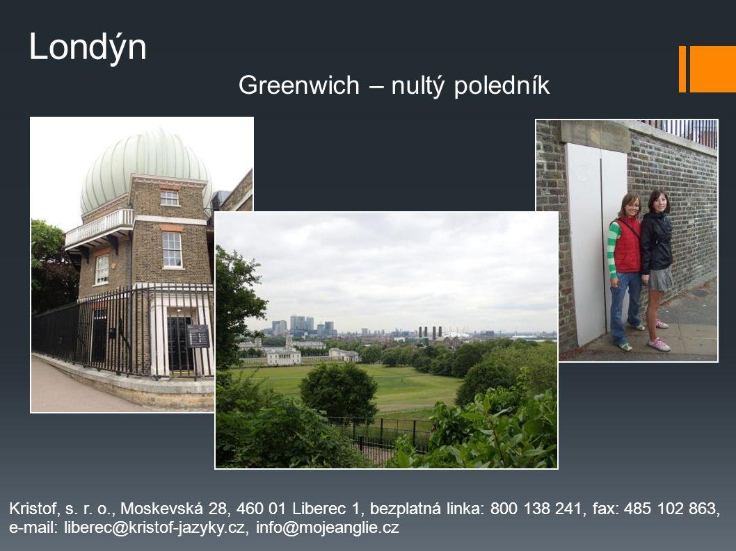 Greenwich – nultý poledník Kristof, s.r.