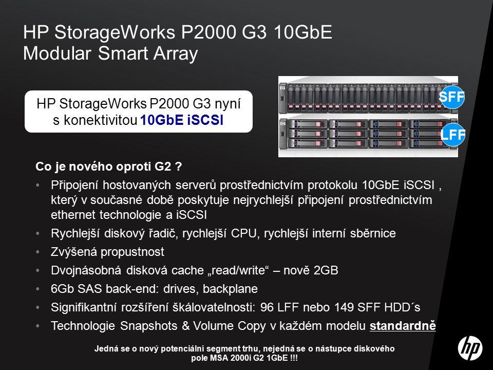 ©2009 HP Confidential6 HP StorageWorks P2000 G3 10GbE Modular Smart Array Co je nového oproti G2 ? Připojení hostovaných serverů prostřednictvím proto