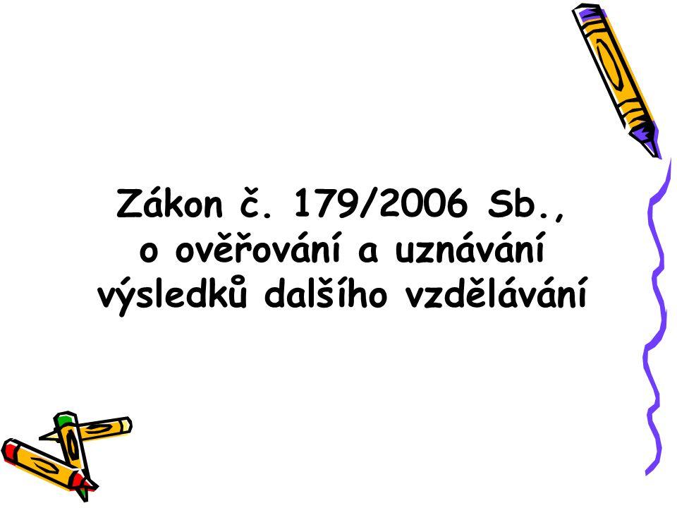 Zákon č. 179/2006 Sb., o ověřování a uznávání výsledků dalšího vzdělávání