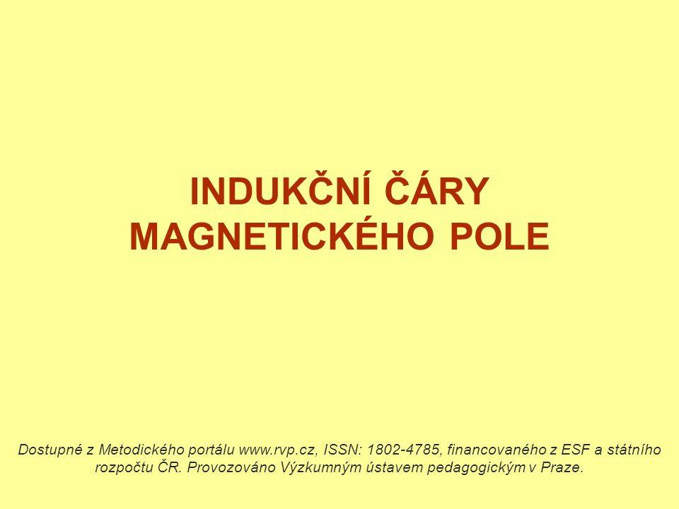 INDUKČNÍ ČÁRY MAGNETICKÉHO POLE Dostupné z Metodického portálu www.rvp.cz, ISSN: 1802-4785, financovaného z ESF a státního rozpočtu ČR.