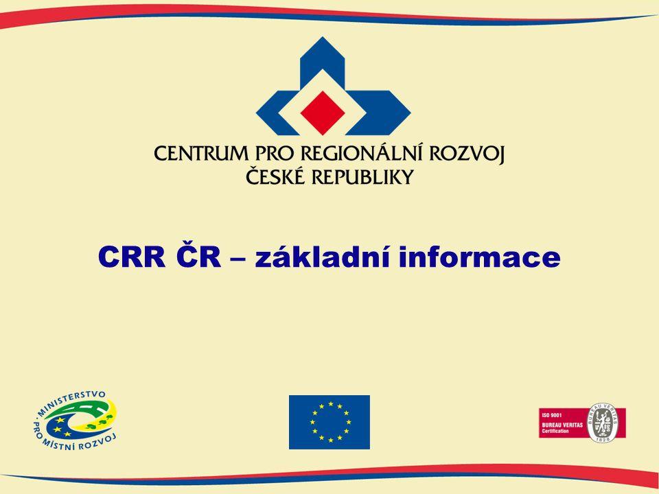 CRR ČR – základní informace