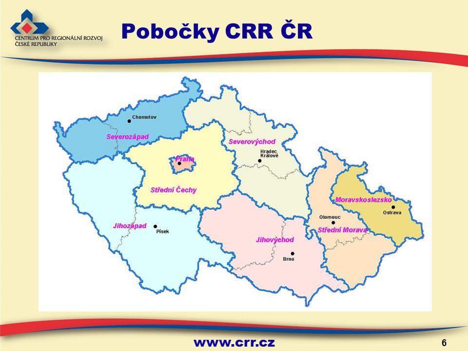 6 Pobočky CRR ČR