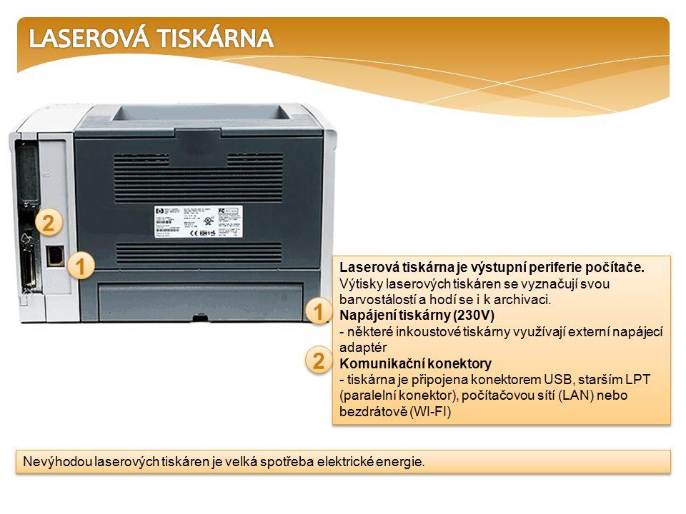 Laserová tiskárna je nejpoužívanějším typem tiskárny pro firemní použití s možností sdílení v počítačové síti.