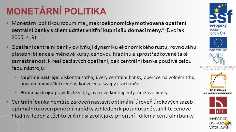 """FISKÁLNÍ POLITIKA Fiskální politikou rozumíme """"makroekonomicky motivované využití systému veřejných financí"""" (Dvořák 2005, s. 9). Jde zejména o jejich"""